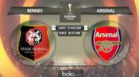 Jadwal 16 besar Liga Europa 2018-2019 leg-1, Rennes vs Arsenal. (Bola.com/Dody Iryawan)
