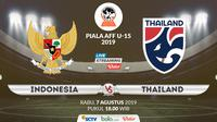 Piala AFF U-15 2019: Indonesia vs Thailand. (Bola.com/Dody Iryawan)