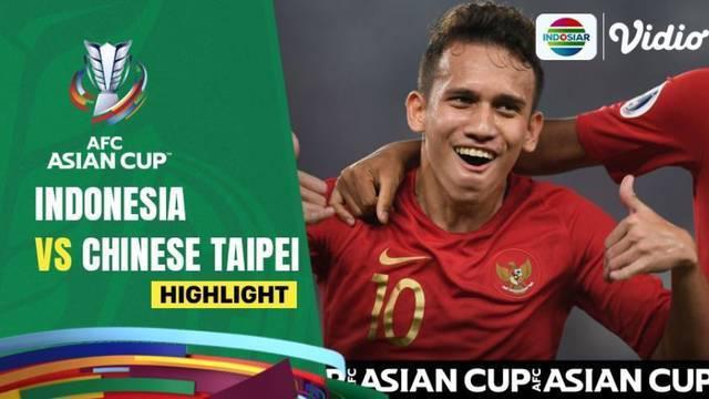 Berita video highlights leg 1 kualifikasi Piala Asia 2023, Timnas Indonesia menang 2-1 atas Chinese Taipei, Kamis (7/10/21)