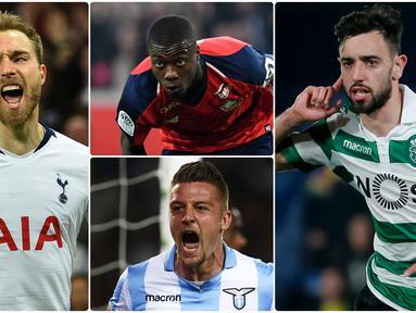Bursa transfer musim panas Inggris yang menyisakan 2 minggu lagi membuat Ole Gunnar Solskjaer agresif berburu pemain untuk membangun kekuatan Manchester United. Berikut ini 6 pemain incaran Manchester United. (Foto kolase AFP)