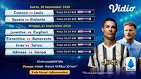 Liga Italia pekan kedelapan dapat disaksikan melalui platform streaming Vidio. (Sumber: Vidio)