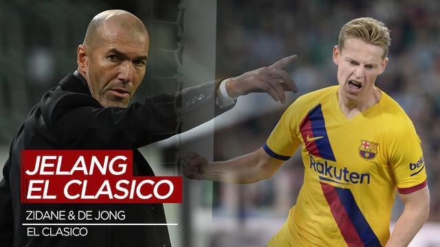 Berita Video Komentar Zinedine Zidane dan Frenkie de Jong Jelang El Clasico