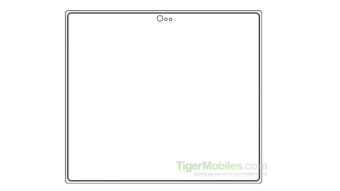 Bocoran gambar paten smartphone layar lipat Xiaomi. (Doc: Tiger Mobiles)
