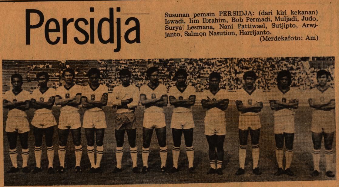 Tim Persija Jakarta Persija Jakarta tahun 1971 dihuni banyak pemain berkelas yang jadi pelanggan Timnas Indonesia. (Dok. Merdeka)