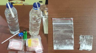 Barang bukti berupa narkoba jenis sabu yang diamankan aparat Polresta Manado.