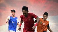 Timnas Indonesia - Beckham Putra Nugraha, Jack Brown, Elkan Baggott (Bola.com/Adreanus Titus)