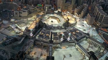 FOTO: Melihat Kemegahan Masjidil Haram dari Udara