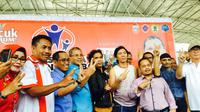 Slank kampanye anti narkoba di Makassar. (Liputan6.com/Eka Hakim)
