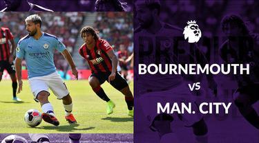 Berita video statistik pertandingan Bournemouth vs Manchester City, Minggu (25/8/2019) di Vitality Stadium, Bournemouth.
