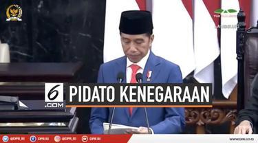 Presiden Joko Widodo menyampaikan pidato di Sidang Tahunan MPR 2019. Jokowi menekankan peraturan daeerh yang berbelit harus segera dipangkas.