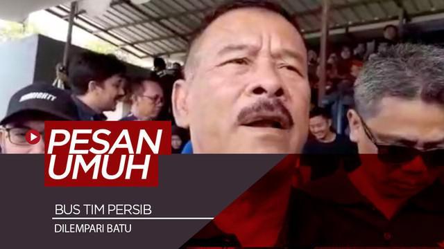 Berita video Manajer tim Persib Bandung, Umuh Muchtar, memberi komentar terkait insiden penyerangan bus skuat Maung Bandung setelah pertandingan melawan PS Tira Persikabo di Liga 1 2019.
