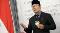 Gubernur Jawa Barat Ridwan Kamil saat mengikuti upacara peringatan Hari Lahir Pancasila melalui video conference di Gedung Pakuan, Kota Bandung, Senin (1/6/2020). (Foto: Humas Jabar)