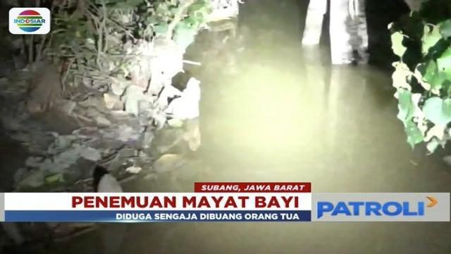 Warga di Subang, Jawa Barat, geger oleh penemuan mayat bayi di aliran air, yang diduga telah dibuang selama tiga hari.