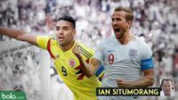 Kolom Ian Situmorang, Kolombia vs Inggris. (Bola.com/Adreanus Titus)