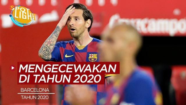Berita video Barcelona dan 3 Klub Paling Mengecewakan di Tahun 2020.