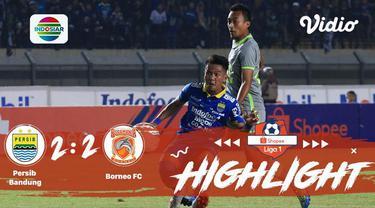 Laga lanjutan Shopee Liga 1, Persib Bandung VS Borneo FC berakhir Dengan 2-2 #shopeeliga1 #Persib Bandung #Borneo FC