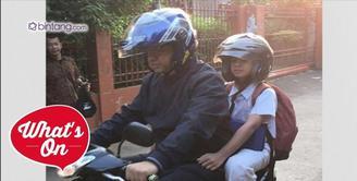 Tak Lagi Jadi Menteri, Anies Baswedan Antar Anak Sekolah Naik Motor