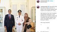 Wakil Gubernur DKI Jakarta Ahmad Riza Patria datang ke Balai Kota, Jakarta.
