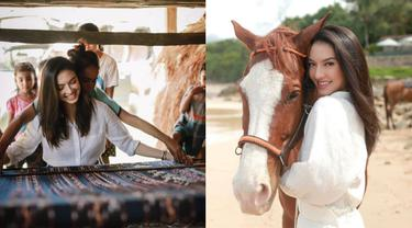 Potret Liburan Raline Shah di Nihi Sumba, Belajar Menenun dan Berkuda di Pantai