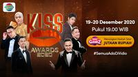 Malam penganugerahan Kiss Awards 2020 yang akan digelar pada 19-20 Desember 2020 dapat diaksikan melalui platform streaming Vidio. (Dok. Vidio)