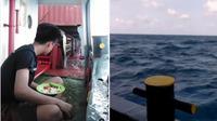 Santai makan liat laut di kapal (Sumber: Instagram/kenakalanhqq)