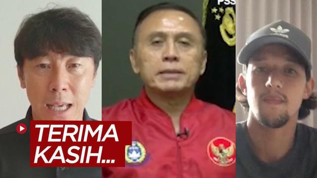 Berita video ucapan terima kasih dan dukungan dari Ketum PSSI, Mochamad Iriawan; Pelatih Timnas Indonesia, Shin Tae-yong; dan insan sepak bola dan futsal nasional untuk dokter dan para tenaga medis, pahlawan penanganan virus corona COVID-19.