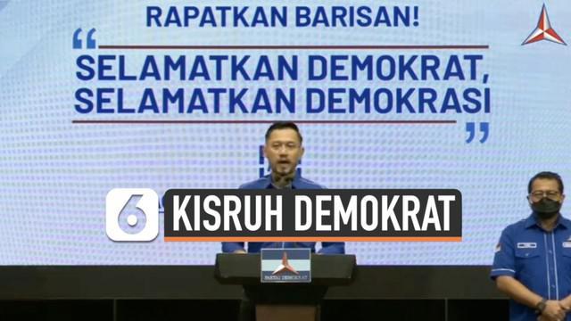 Ketua Umum Partai Demokrat Agus Harimurti Yudhoyono gelar konferensi pers Jumat (5/3) sore. Ia merespon kongres luar biasa di Deli Serdang yang disebutnya ilegal.