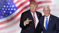 Ilustrasi Pilpres AS 2020, Donald Trump-Mike Pence. (Liputan6.com/Tri Yasni)