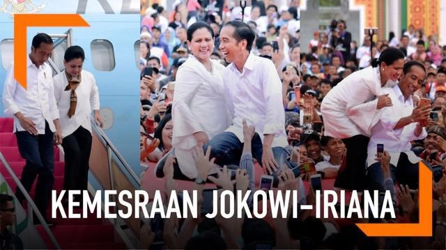 Presiden Jokowi dan Ibu Negara Iriana sering nampak mesra. Bahkan, Jokowi tak ragu menunjukkan kecintaannya pada Iriana dalam sebuah wawancara.