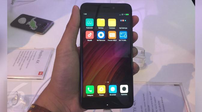 Tampilan depan Xiaomi Redmi 4X. Liputan6.com/ Jeko Iqbal Reza