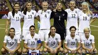 Timnas wanita Amerika Serikat. (AFP/Franck Fife)