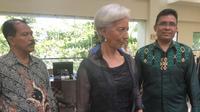 Managing Director International Monetary Fund (IMF) Christine Lagarde melakukan kunjungan kerja ke Bali, Jumat (2/3/2018).