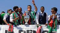 Portugal meraih gelar juara Piala Eropa 2016. (AFP/Jose Manuel Ribeiro)