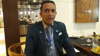 Ketua Asosiasi Provinsi PSSI DKI Jakarta Uden Kusuma Wijaya. (Liputan6.com/Dewi Divianta)