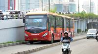 Bus Transjakarta (Liputan6.com/Helmi Fithriansyah)