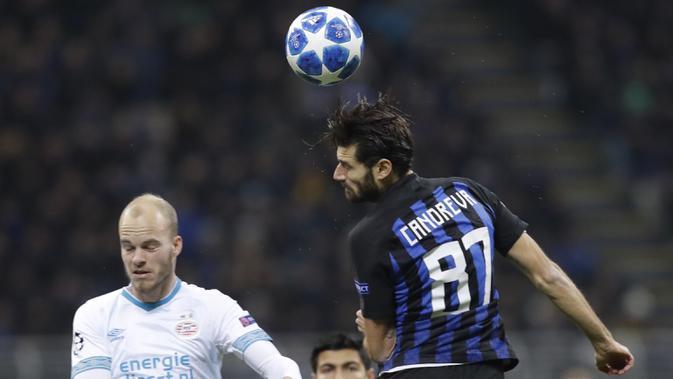 Gelandang Inter Milan, Antonio Candreva (AP/Luca Bruno)