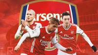 Arsenal - Jack Wilshere, Smith Rowe, Mesut Ozil (Bola.com/Adreanus Titus)