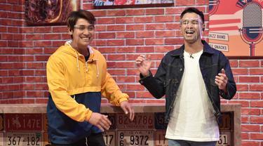 Raffi Ahmad dan Rizky Billar di acara Pesbukers