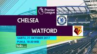 Premier League 2017-2018 Chelsea Vs Watford (Bola.com/Adreanus Titus)