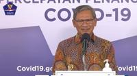 Direktur Jenderal Pencegahan dan Pengendalian Penyakit Kementerian Kesehatan Achmad Yurianto. (Foto: Tampilan Layar di YouTube BNPB)