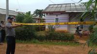 Rumah salah satu terduga teroris di Sumsel yang diamankan polisi pada akhir bulan Desember 2017 lalu (Liputan6.com / Nefri Inge)