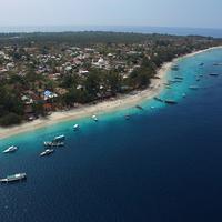 Kini Gili Trawangan dapat diakses dari Bali menggunakan fast boat.