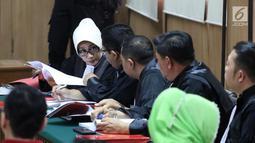 Suasana sidang peninjauan kembali (PK) Basuki Tjahaja Purnama atau Ahok di Gedung PN Utara, Senin (26/2). Ahok tidak hadir dalam sidang pemeriksaan berkas. (Liputan6.com/Arya Manggala)