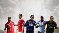 Ilustrasi Pemain - Philipp Lahm, Gary Neville, Javier Zanetti, Dani Alves, Gianluca Zambrotta (Bola.com/Adreanus Titus)