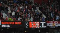 Arsenal tumbang 2-8 di Old Trafford, Agustus 2011. (AFP/Andrew Yates)