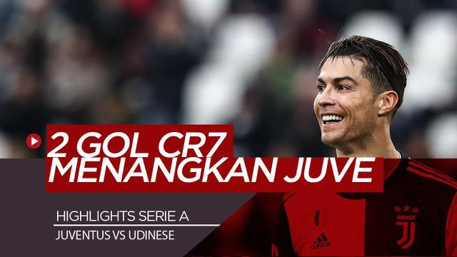 Berita Video Highlights Serie A, Dua Gol Cristiano Ronaldo Menangkan Juventus atas Udinese 3-1