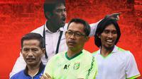 Liga 1 - Trivia Pelatih Djadjang Nurdjaman, Aji Santoso, Nil Maizar, Budi Sudarsono (Bola.com/Adreanus Titus)