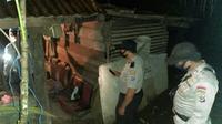Lokasi penemuan mayat di Kebun Buhanga di Kelurahan Santiago, Tahuna, Kabupaten Sangihe.