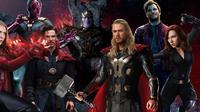 Ilustrasi karakter-karakter dalam franchise film Avengers buatan Marvel. (Screen Rant)