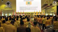 Para kader mengucapkan Ikrar Panca Bakti saat pembukaan Rakernas Partai Golkar 2018 di Jakarta, Kamis (22/3). Rakernas membahas Pilkada 2018 dan Pilpres 2019. (Merdeka.com/Iqbal Nugroho)